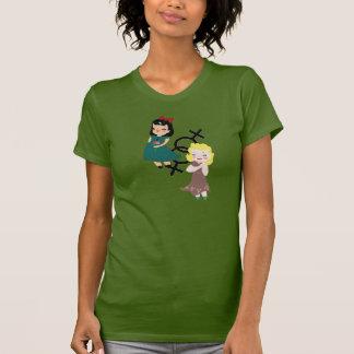 Chicas del vintage camiseta