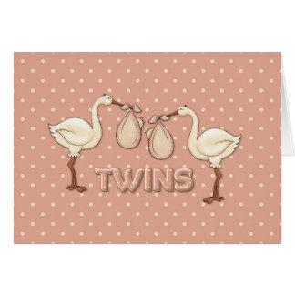 Chicas gemelos tarjeton