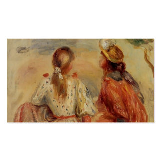 Chicas jóvenes de Pedro-Auguste Renoir- en la play Tarjetas De Visita