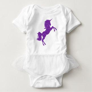 Chicas púrpuras del mameluco del tutú del bebé del