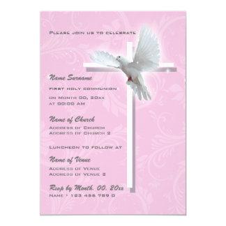Chicas religiosos de la confirmación de la invitación 12,7 x 17,8 cm
