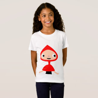 Chicas rojas de capucha en Girls' playera