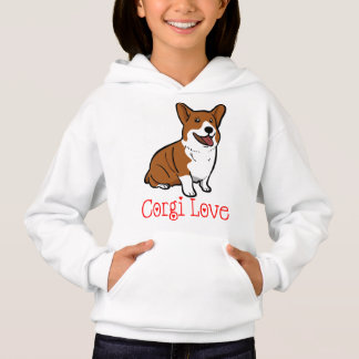 Chicas rojos del amor del perro de perrito del