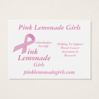Chicas rosados de la limonada tarjeta de negocios