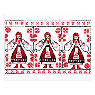 Chicas ucranianos tradicionales de Ucrania del Postal