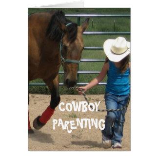 Chicas y dirección - Parenting del vaquero Tarjeta De Felicitación