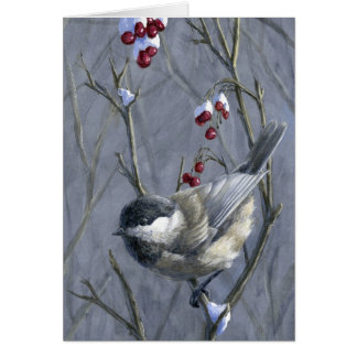 Chickadee del navidad tarjeta de felicitación