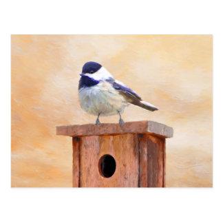 Chickadee en Birdhouse Postal