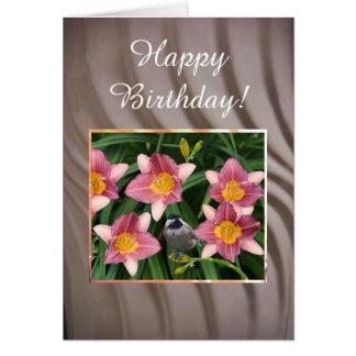 Chickadee - tarjeta de cumpleaños