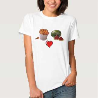 chicken-bucket1, sandía [1], 491px-Heart_lef… Camiseta