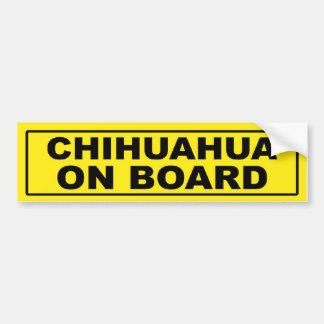 Chihuahua a bordo pegatina para coche