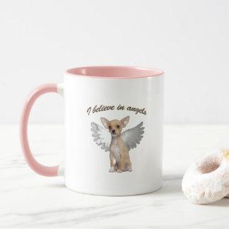 Chihuahua del ángel taza