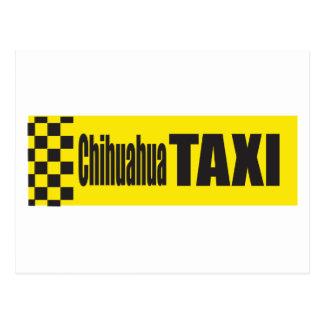 Chihuahua del taxi tarjeta postal
