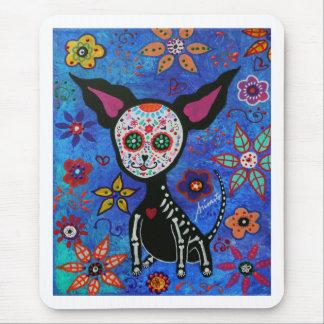 Chihuahua Dia de los Muertos Alfombrillas De Raton