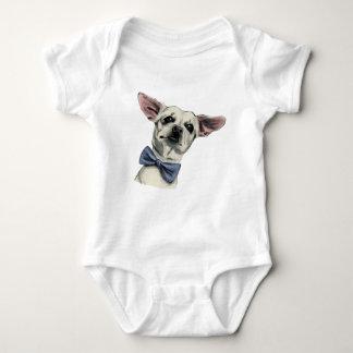 Chihuahua linda con el dibujo de la pajarita body para bebé