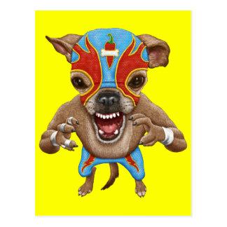 Chihuahua - luchador mexicano postal