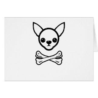 Chihuahua y huesos (editable) tarjeton