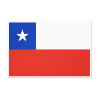 Chile - bandera chilena impresión en lona estirada