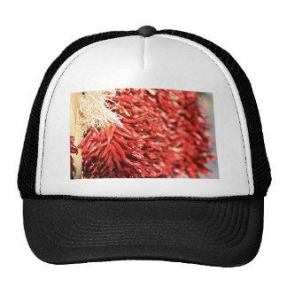 Chile rojo secado colgante picante gorro de camionero