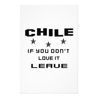 Chile si usted no lo ama, se va papeleria personalizada