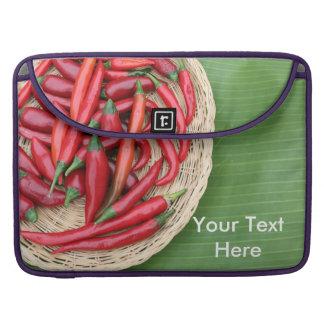 Chiles rojos fundas para macbooks