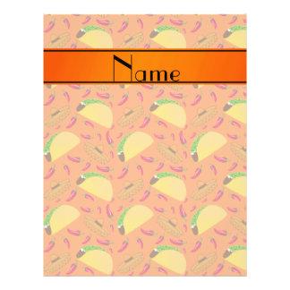Chilis anaranjados conocidos personalizados de los folleto 21,6 x 28 cm