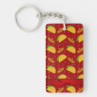 Chilis rojos conocidos personalizados de los llavero rectangular acrílico a doble cara
