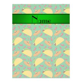 Chilis verdes conocidos personalizados de los folleto 21,6 x 28 cm