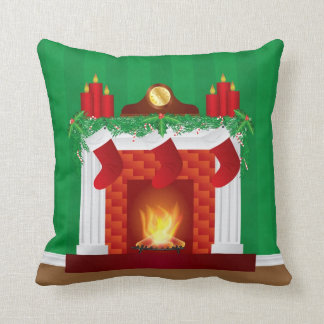 Chimenea con la almohada de la decoración del navi