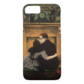 Chimenea romántica de los pares del amor y del funda iPhone 7