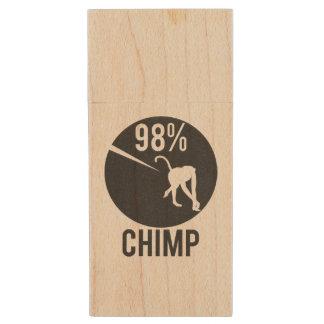 chimpancé del 98% memoria USB de madera