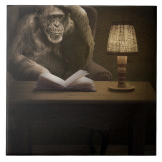 Chimpancé del mono del mono azulejo de cerámica