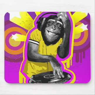 Chimpancé DJ Alfombrilla De Ratón