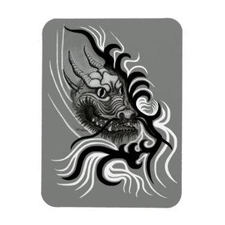 China-Dragón en estilo del tatuaje Imanes De Vinilo