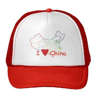 China-mapa-gorra Gorras De Camionero