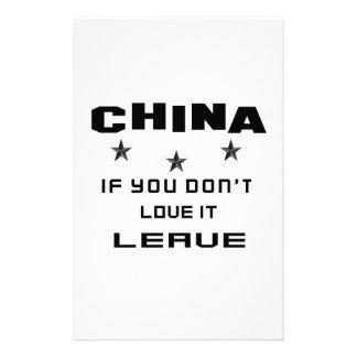 China si usted no la ama, se va  papeleria de diseño