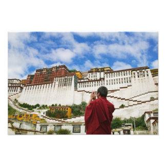 China Tíbet Lasa monje tibetano con Potala Cojinete