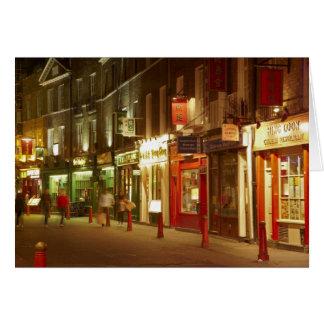 Chinatown, Soho, Londres, Inglaterra, Reino Unido Tarjeta
