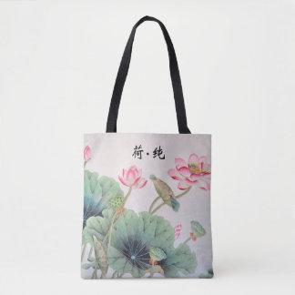 Chino Lotus que pinta el bolso de Tole