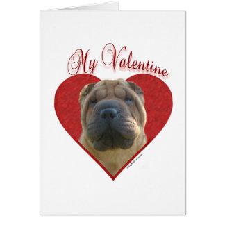 Chino Shar Pei mi tarjeta del día de San Valentín