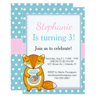 Chipmunk Birthday invitation kid child boy girl Invitación 12,7 X 17,8 Cm