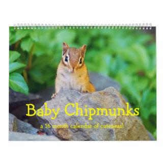 Chipmunks 2016/2017 (calendario del bebé de 16 calendario de pared