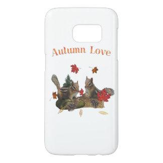 Chipmunks del amor del otoño funda samsung galaxy s7