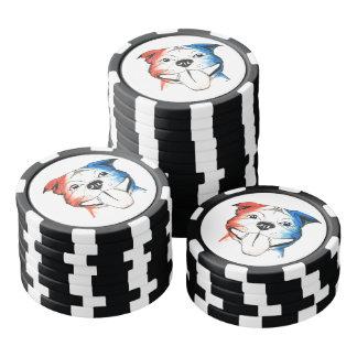 Chipset del póker del pitbull de PBR Fichas De Póquer