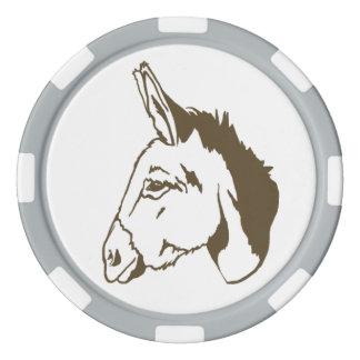 ¡chipset marrón del póker del burro! juego de fichas de póquer