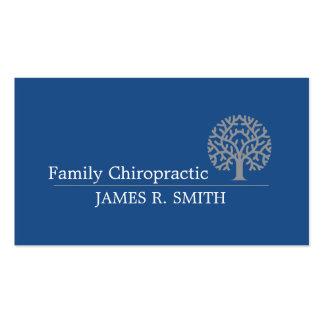 Chiropractor azul profesional de la quiropráctica tarjetas de visita