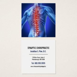 Chiropractor cuadrado gráfico de la espina dorsal tarjeta de visita cuadrada