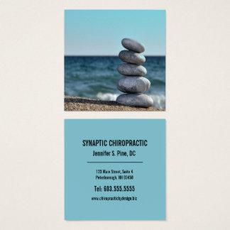 Chiropractor de equilibrio del cuadrado de la tarjeta de visita cuadrada