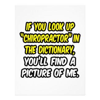 Chiropractor en diccionario… mi imagen folleto 21,6 x 28 cm
