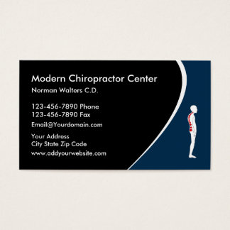 Chiropractor moderno tarjeta de negocios